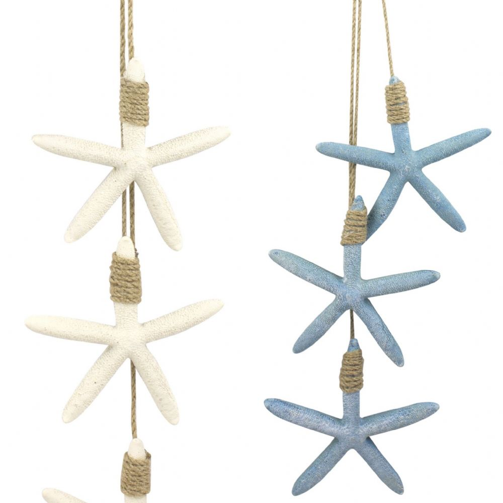 Hanging Trio 12 cm Starfish on Twine Nautical Tropical Decoration